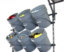 Garage Storage Bucket Rack